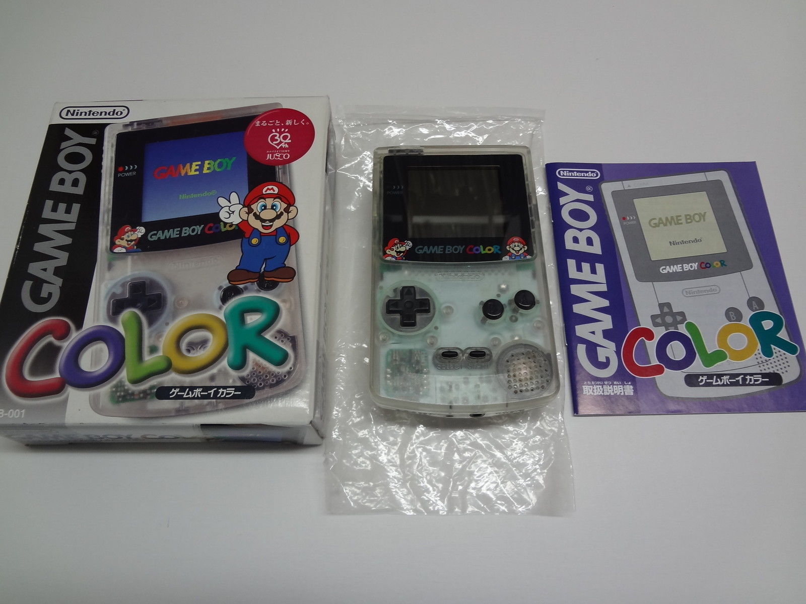 Game Boy Color System Jusco Clear Nintendo